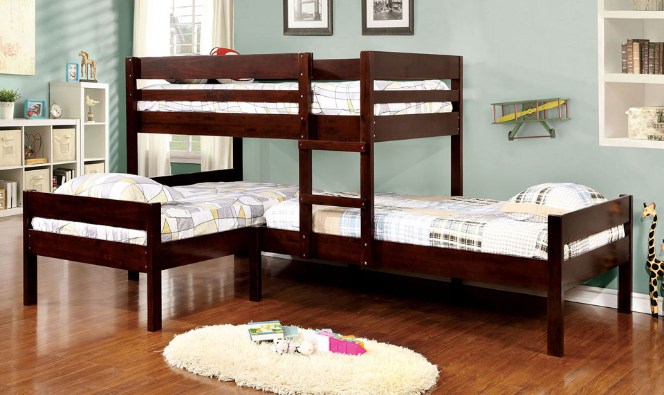 L Shape Corner Triple Bunk Bed